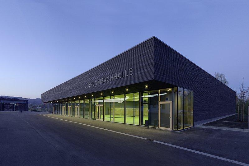 Künstler-Garderoben, Donauhallen Sporthalle FN-Kluftern Ansicht von Süden Planung Jauss&Gaupp Architekten April 2016
