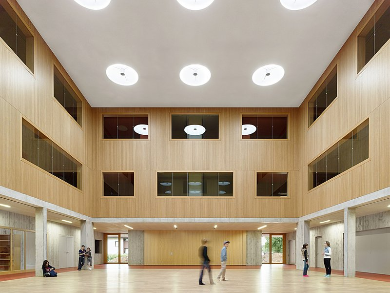 DEU, Kusterdingen, Firstwald-Gymnasium, Klumpp+Klumpp Architekten , Fertigstellung: 2015 , DIGITAL 100 MB 8 Bit. - ©Zooey Braun; Veroeffentlichung nur gegen Honorar, Urhebervermerk und Beleg / permission required for reproduction, mention of copyright, c