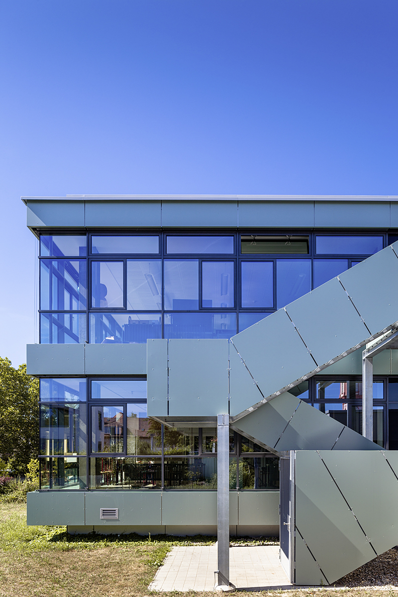 Johann-Peter-Hebel-Schule in Bruchsal für Feigenbutz Architekten  Foto: Patrick Beuchert
