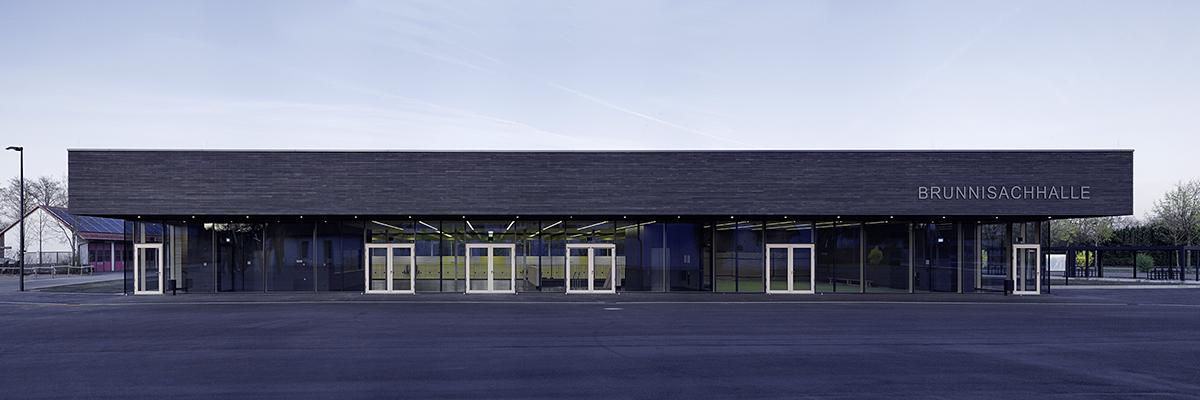 Sporthalle FN-Kluftern Ansicht von WestenPlanung Jauss&Gaupp Architekten April 2016
