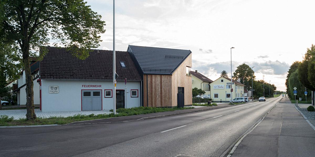 Feuerwehrhaus Roßfeld in Crailsheim, August 2020, Deutschland