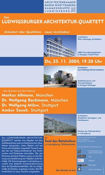 Architekt Ludwigsburg das ludwigsburger architekturquartett akbw architektenkammer baden